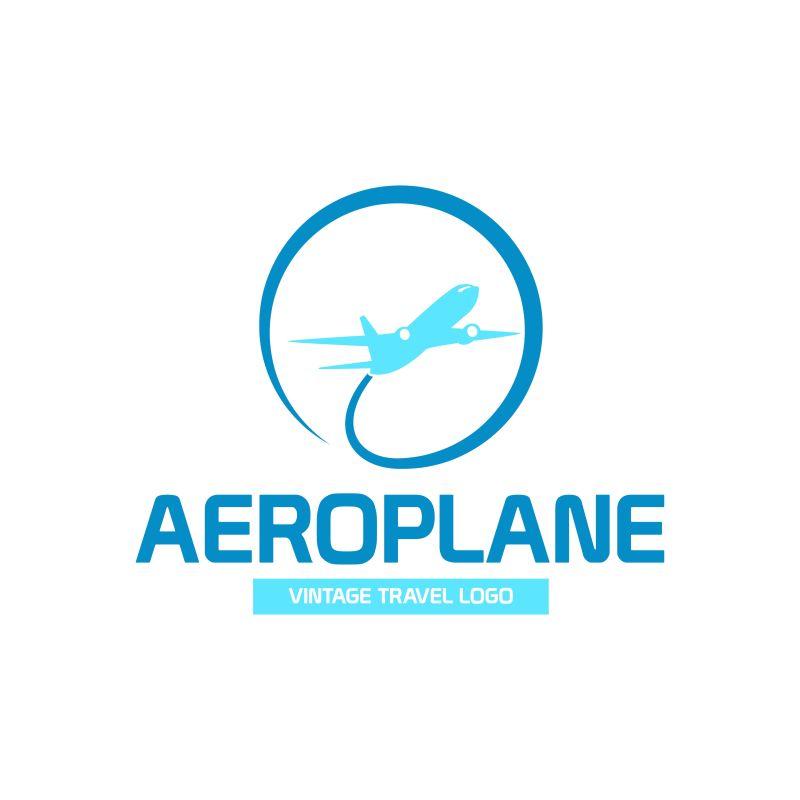 抽象矢量飞机场标志设计