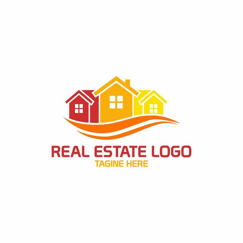 创意矢量房地产标志设计