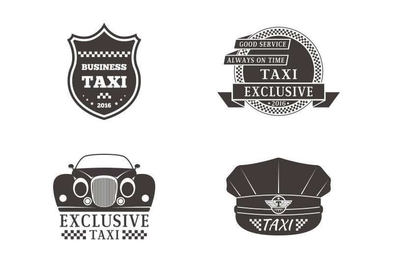 创意矢量现代出租车标志设计