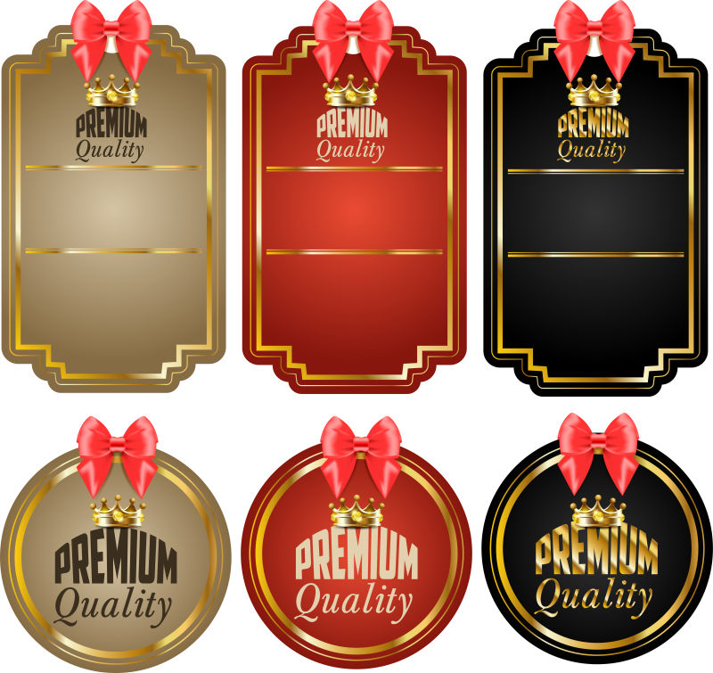 创意矢量优质产品的徽章设计