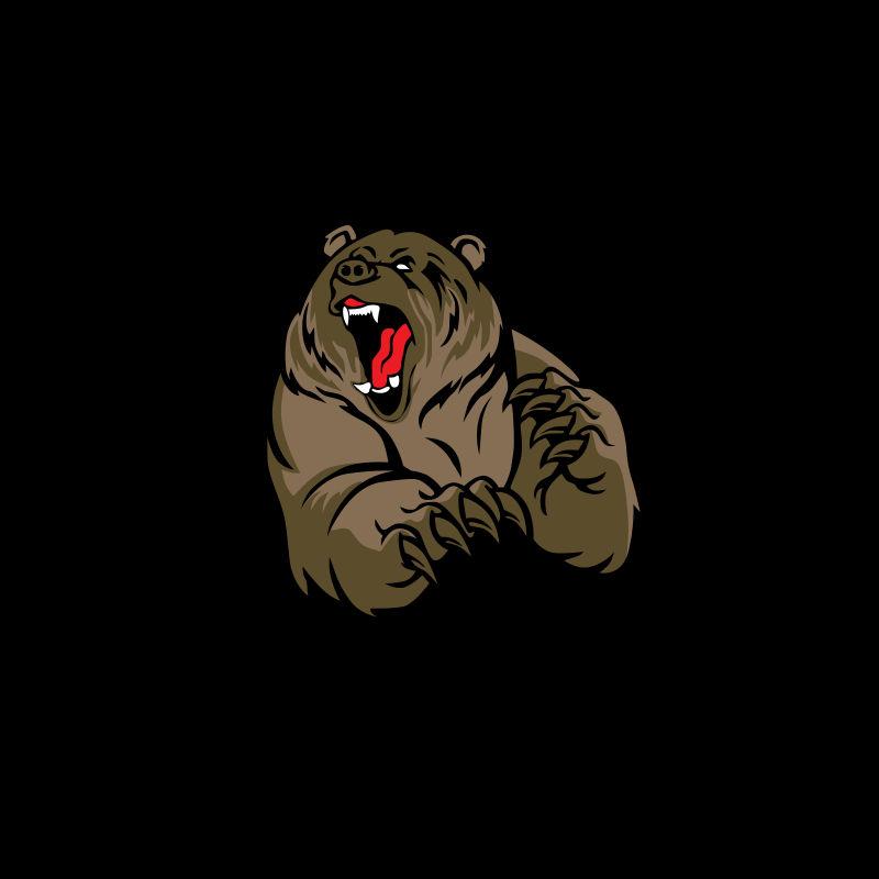 灰熊吉祥物爪爪