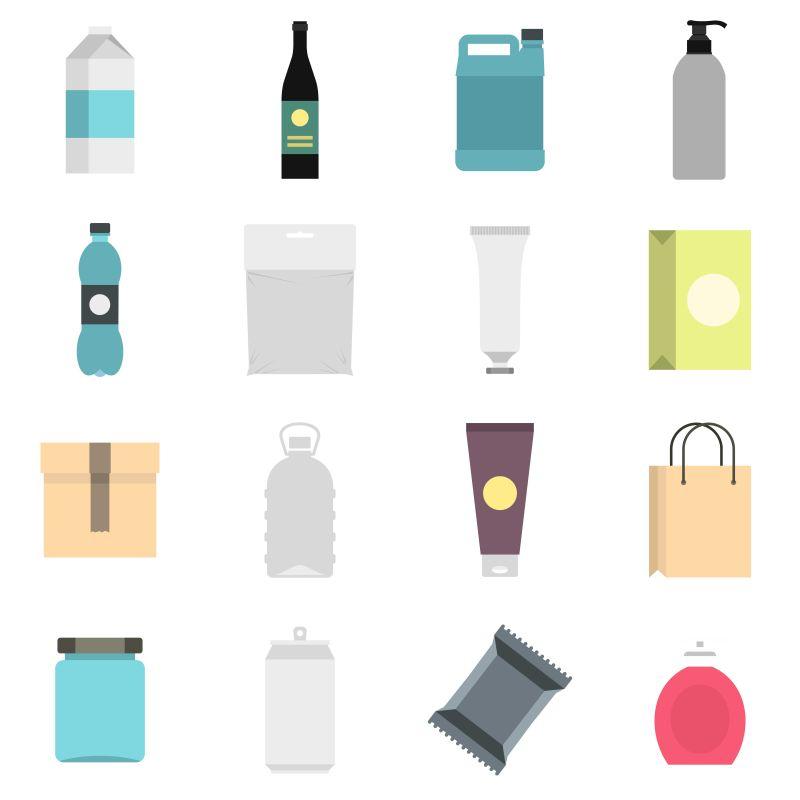 创意矢量包装主题的图标设计