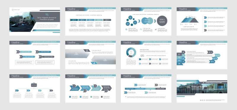 创意矢量整套现代宣传信息图表设计