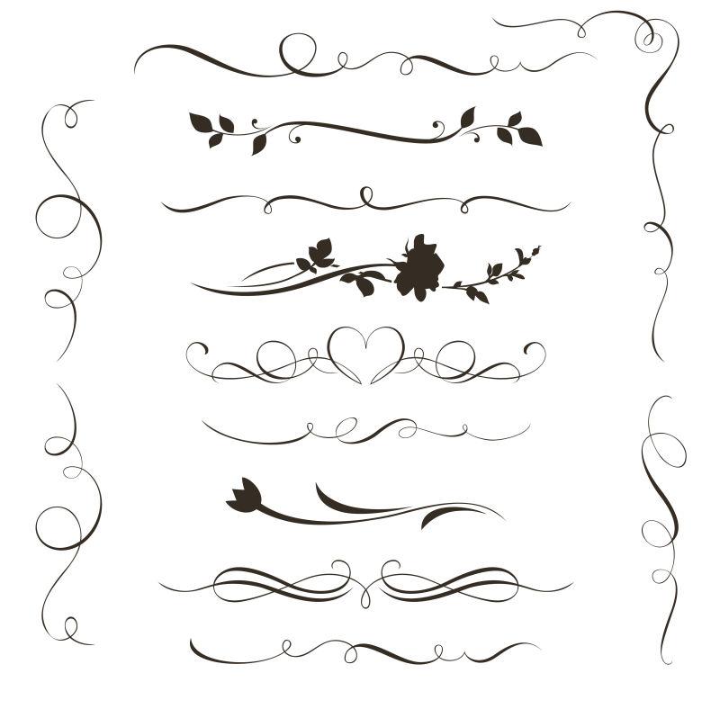 抽象矢量现代手绘元素装饰设计