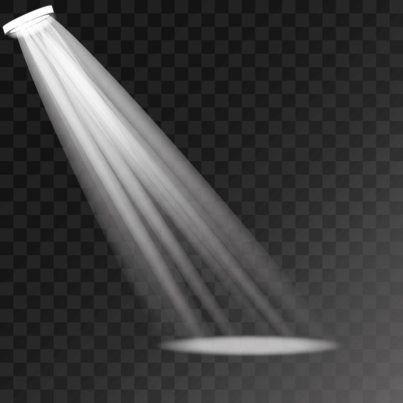 创意矢量白色射灯设计元素