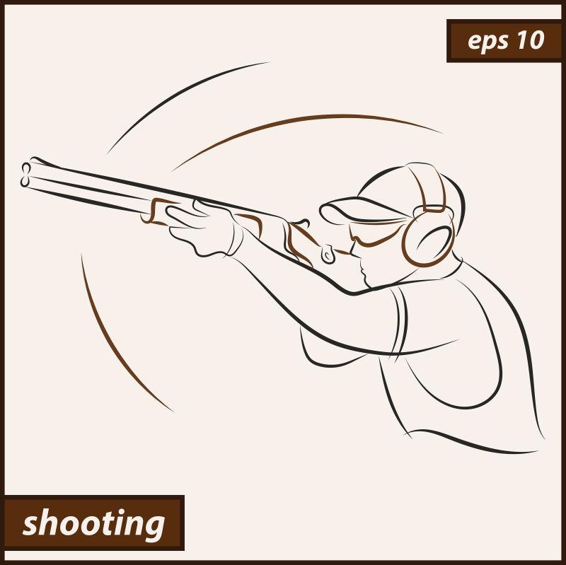 创意矢量射击运动员插图设计