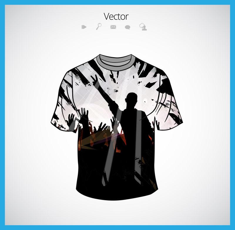 创意矢量舞会派对主题的T恤设计