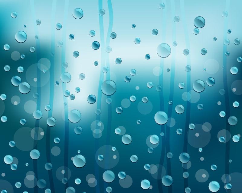 蓝色水滴背景矢量设计