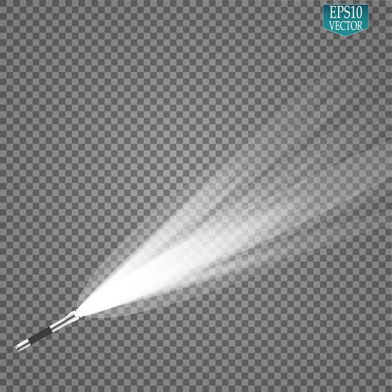 创意矢量白色耀眼灯光设计元素
