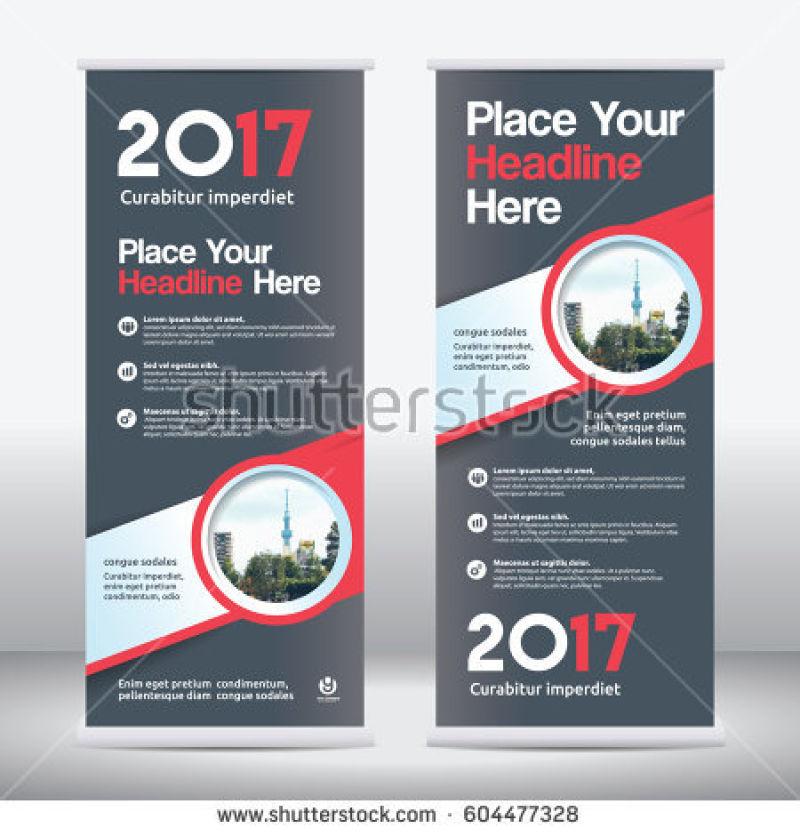 黑色红色矢量现代商业竖横幅设计