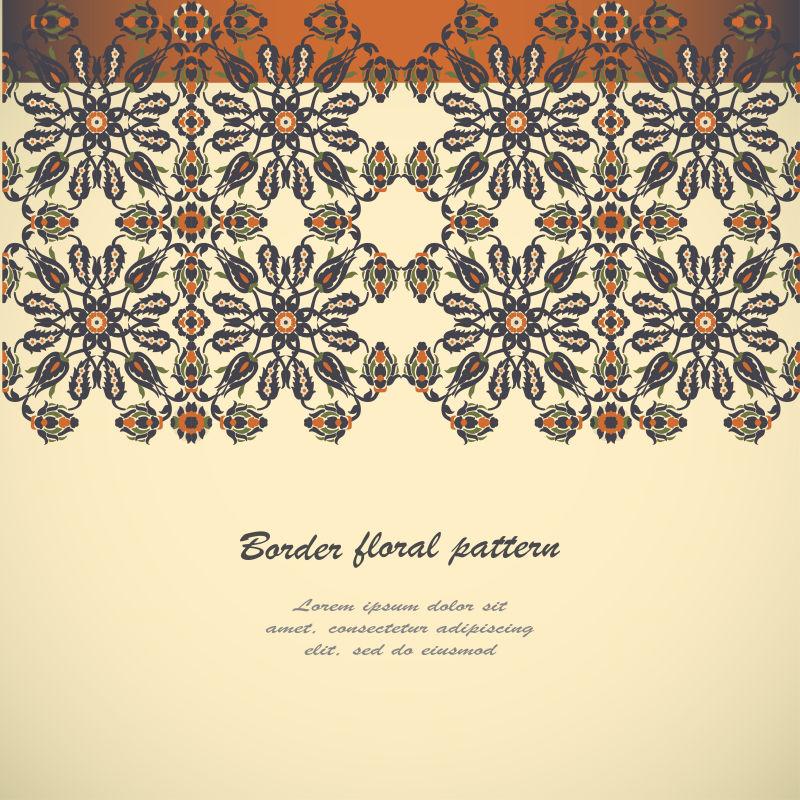 创意矢量经典花卉纹样装饰背景设计