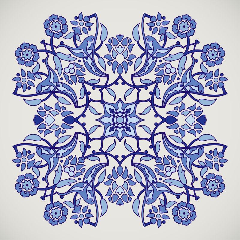 抽象矢量古典花纹装饰背景设计