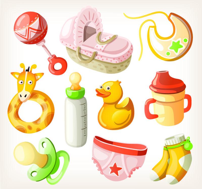 创意矢量婴儿玩具图标设计