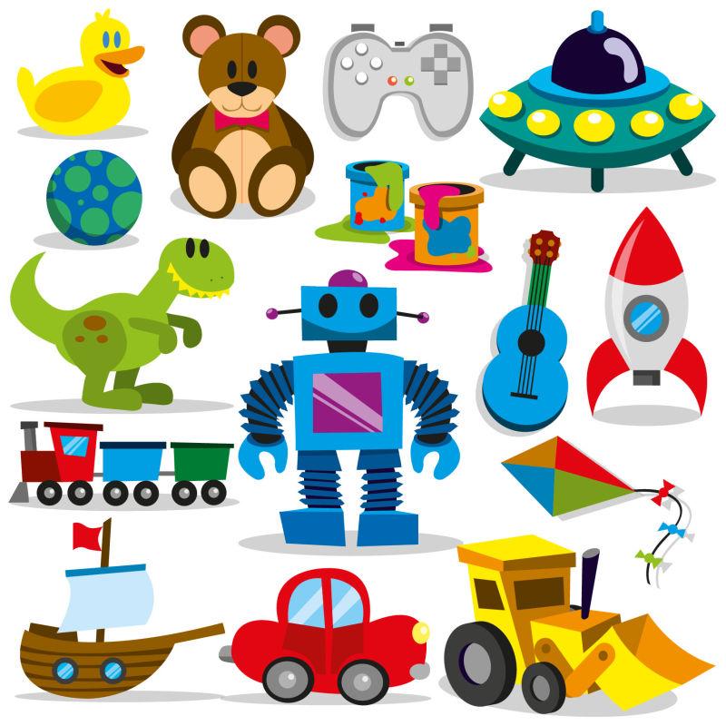 创意矢量婴儿玩具图标