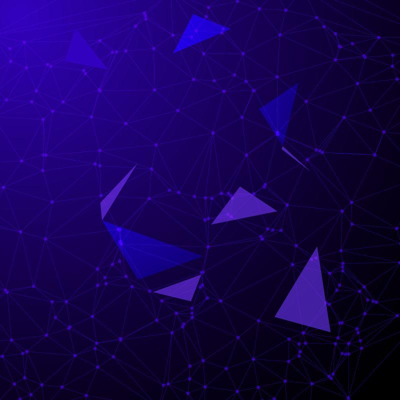 矢量紫色几何图案背景