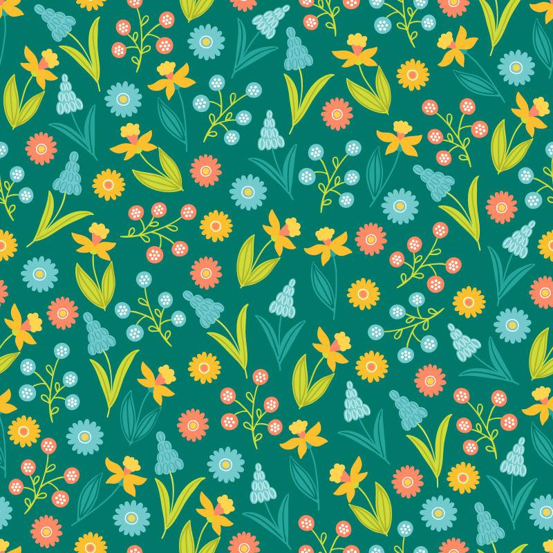 创意矢量现代花卉元素复活节主题装饰背景设计