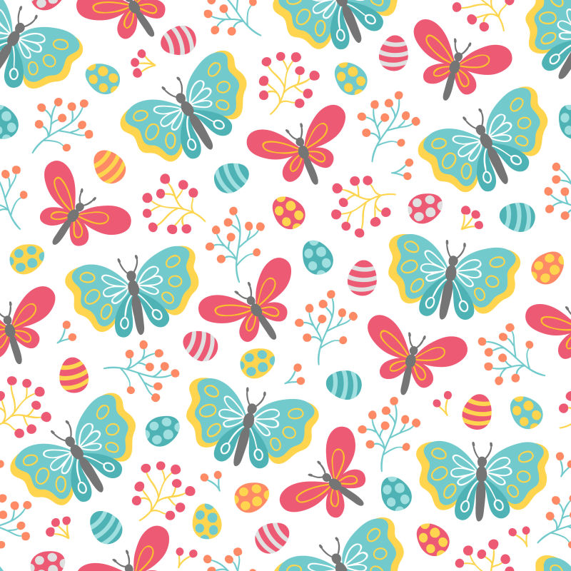 抽象矢量蝴蝶元素装饰背景