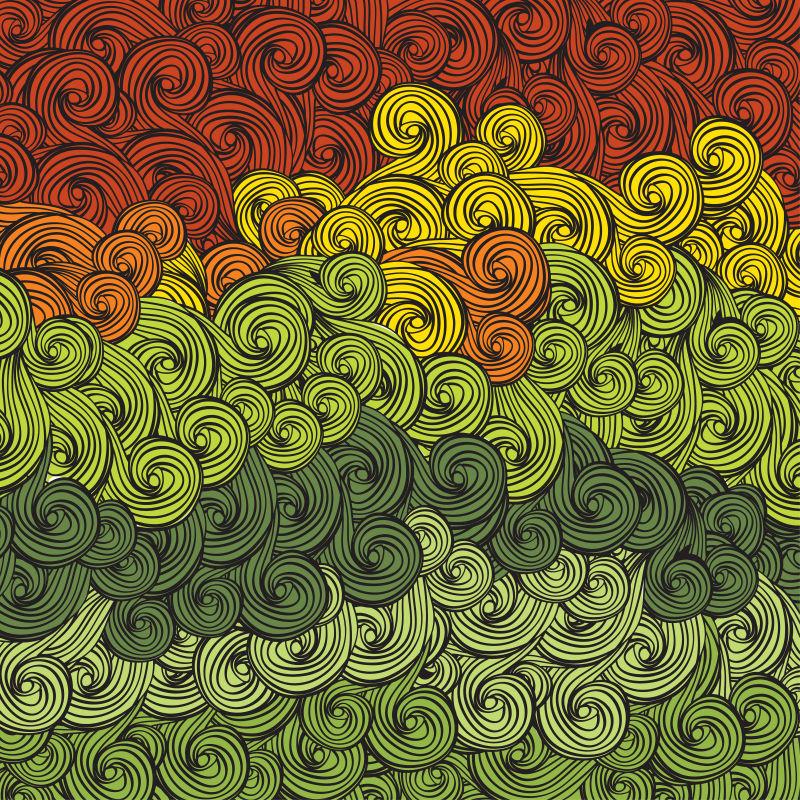 矢量抽象色波纹理背景