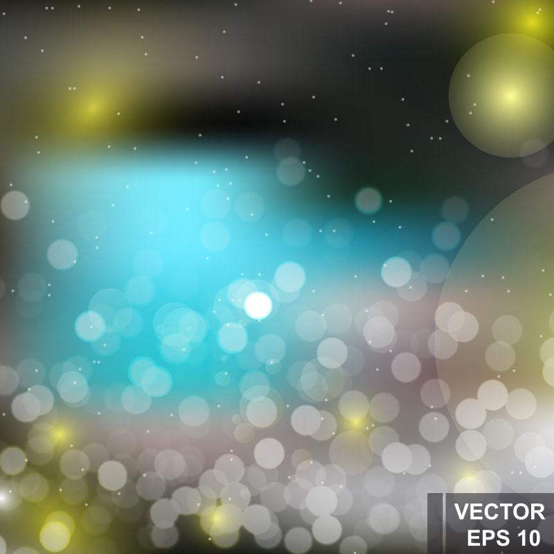 抽象矢量现代彩色光晕背景