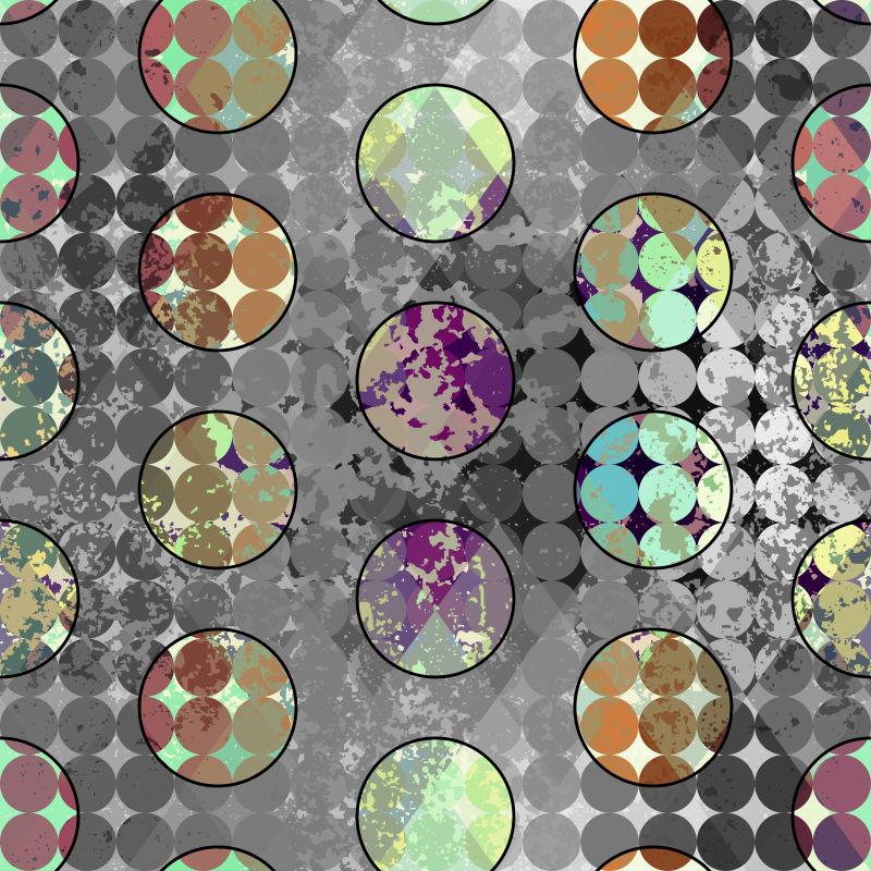 抽象矢量圆点元素装饰设计背景