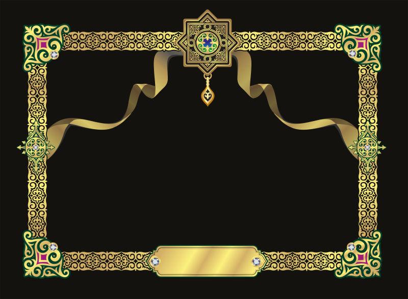 带装饰性金框的背景