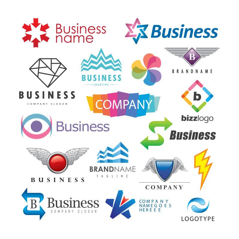 抽象矢量现代商业标志平面设计合集