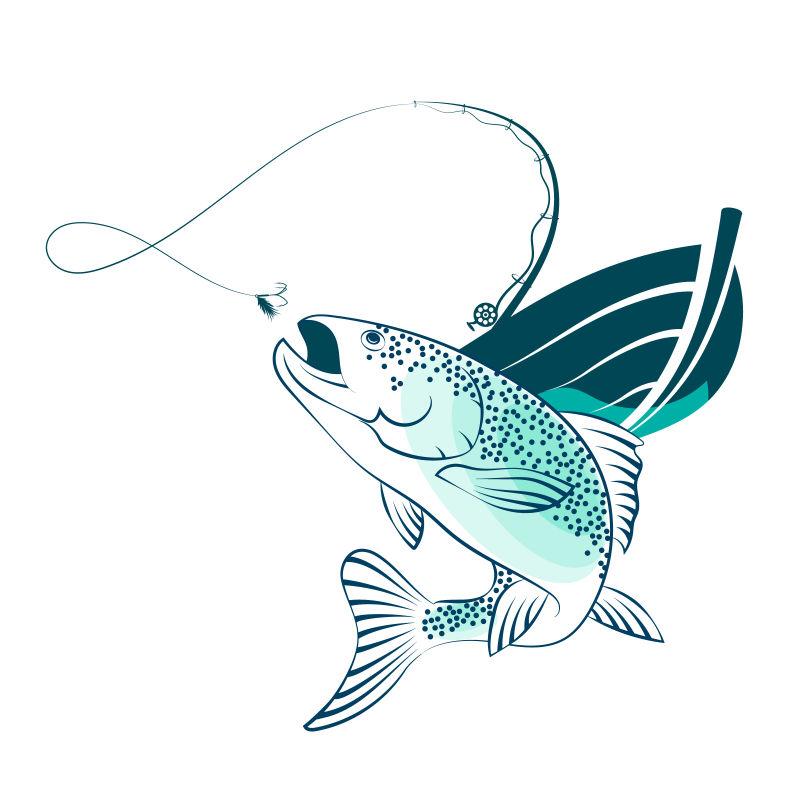 矢量钓鱼特写