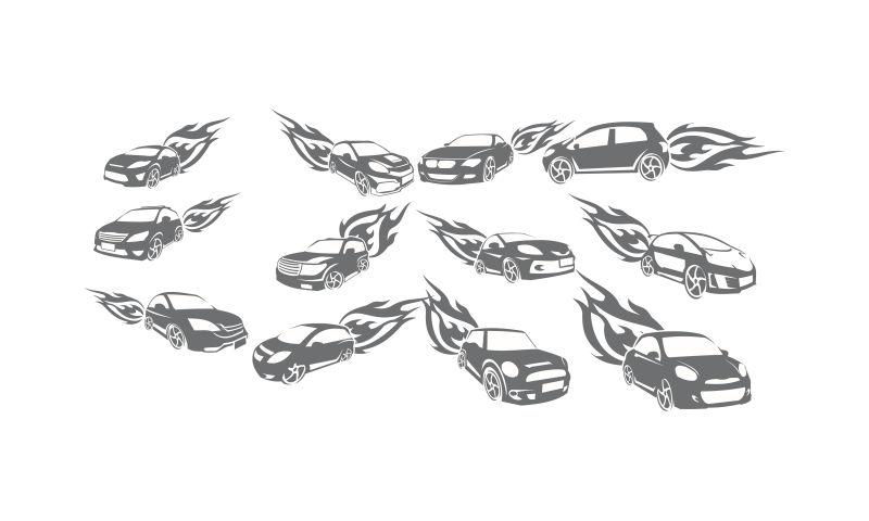 创意矢量飞速的汽车标志设计