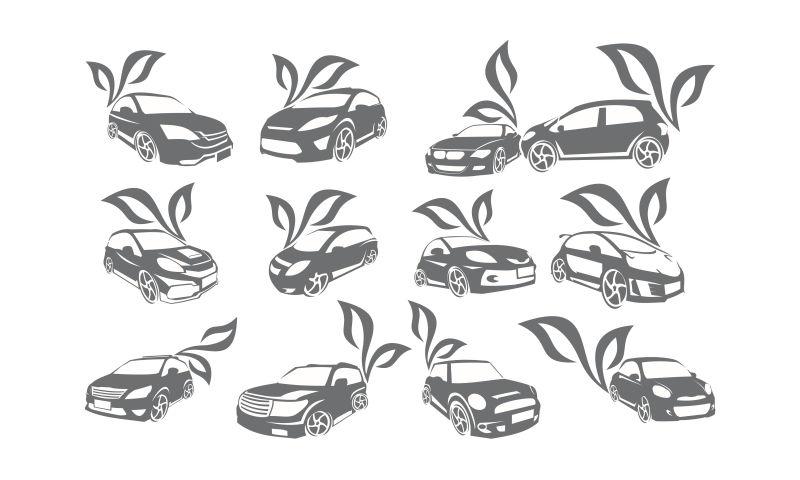 抽象矢量汽车标志设计