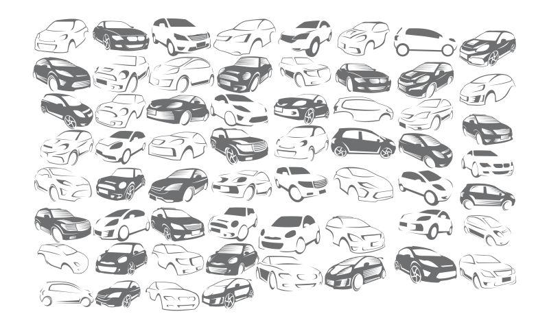 矢量创意现代汽车元素标志设计