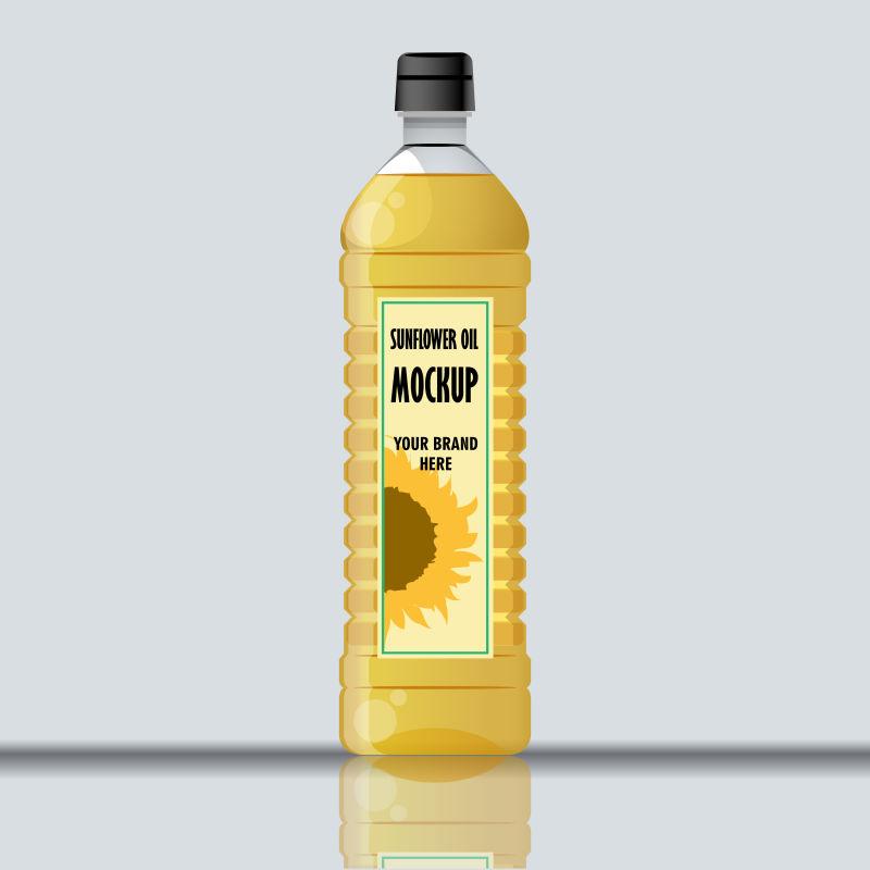 矢量油瓶设计