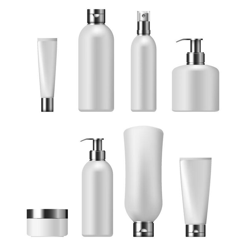 矢量白色空白包装瓶设计