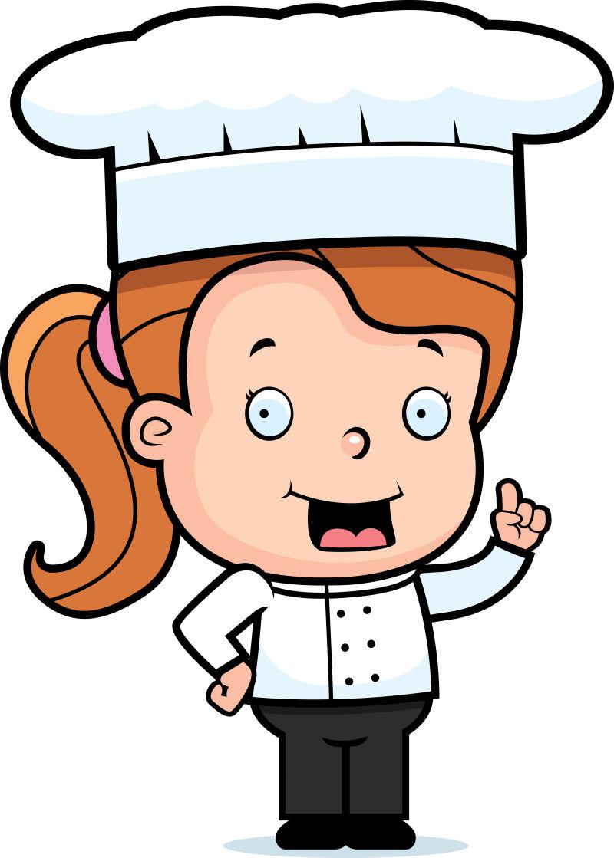 矢量微笑的女性厨师