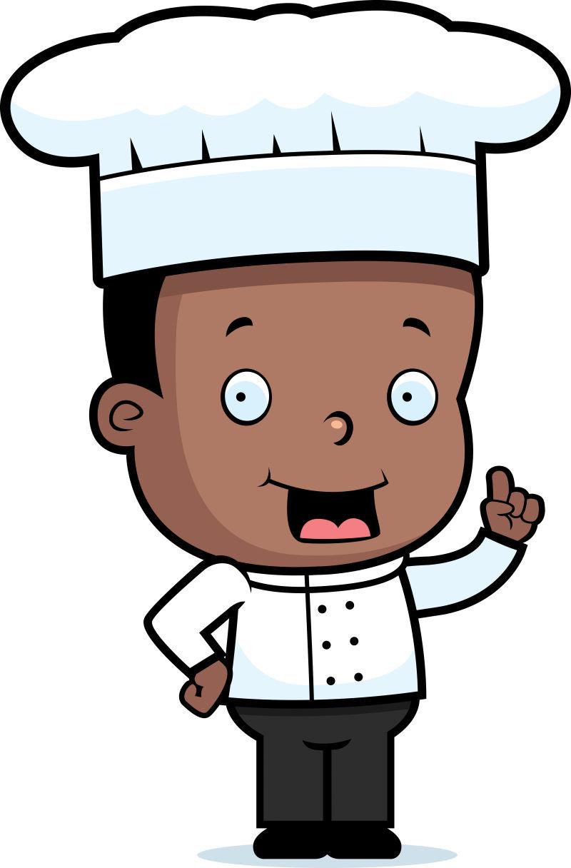 矢量戴着厨师帽的卡通厨师