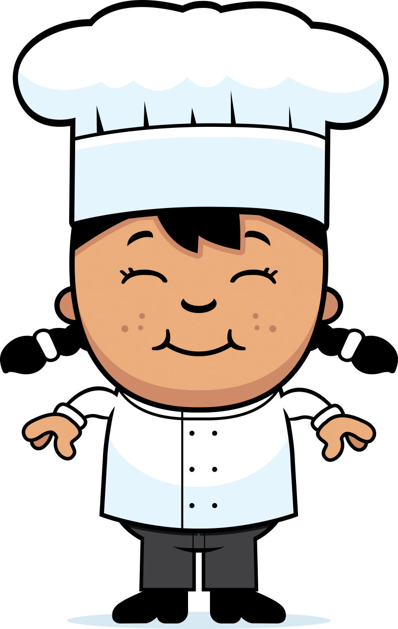 矢量卡通女性厨师