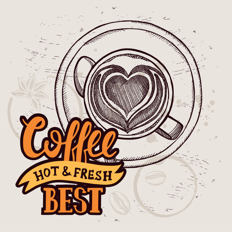 创意矢量等距风格的咖啡馆海报