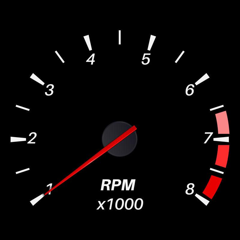 抽象矢量汽车转速表设计