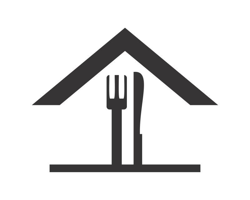 矢量黑色餐具图标