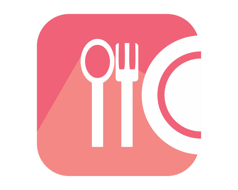 矢量白色的餐具图标设计