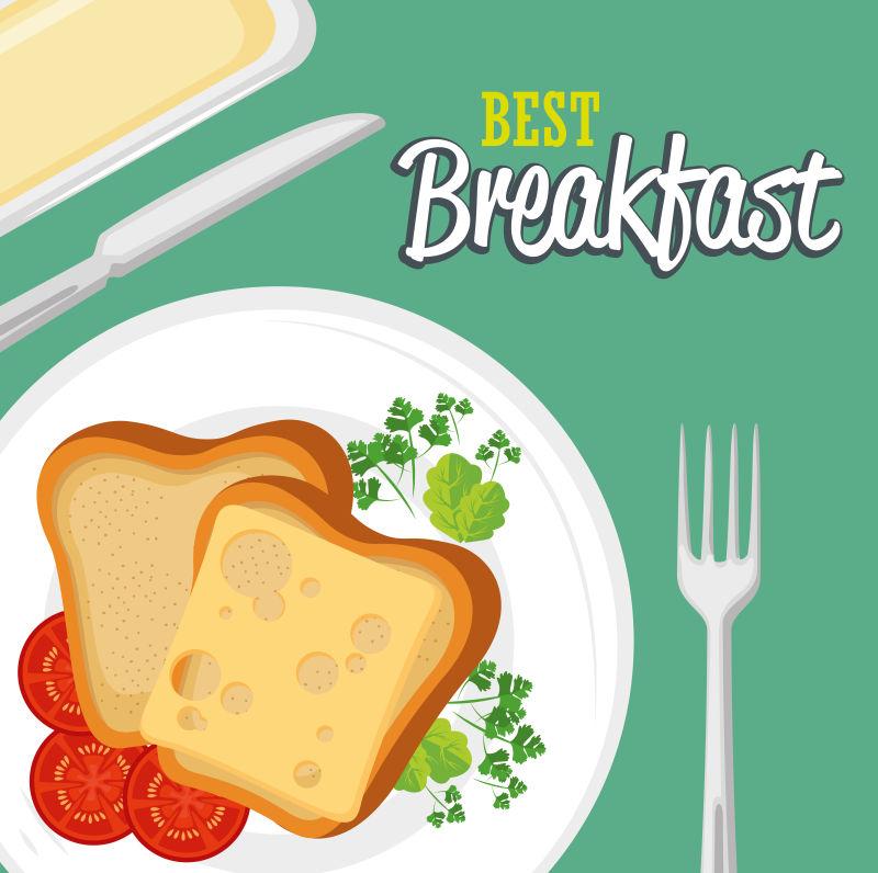 矢量早餐设计