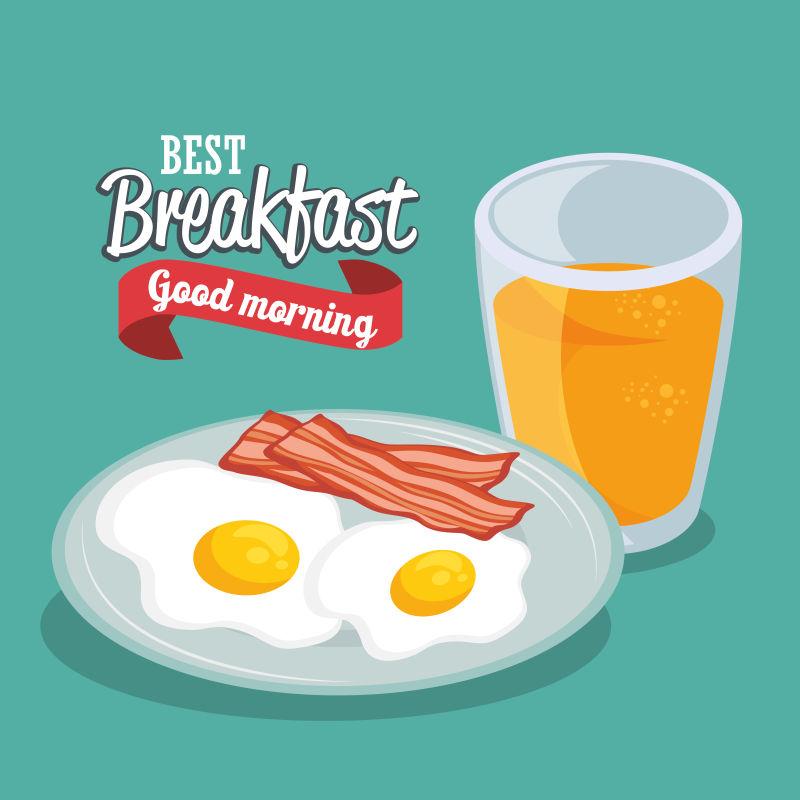 矢量早餐概念