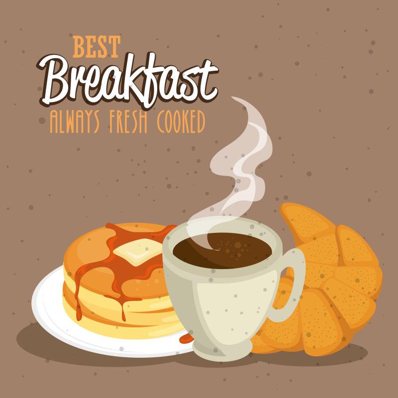矢量的早餐设计