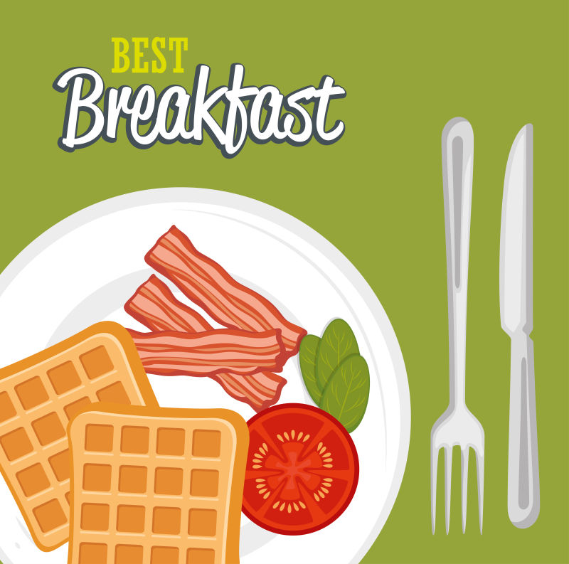 矢量现代早餐设计