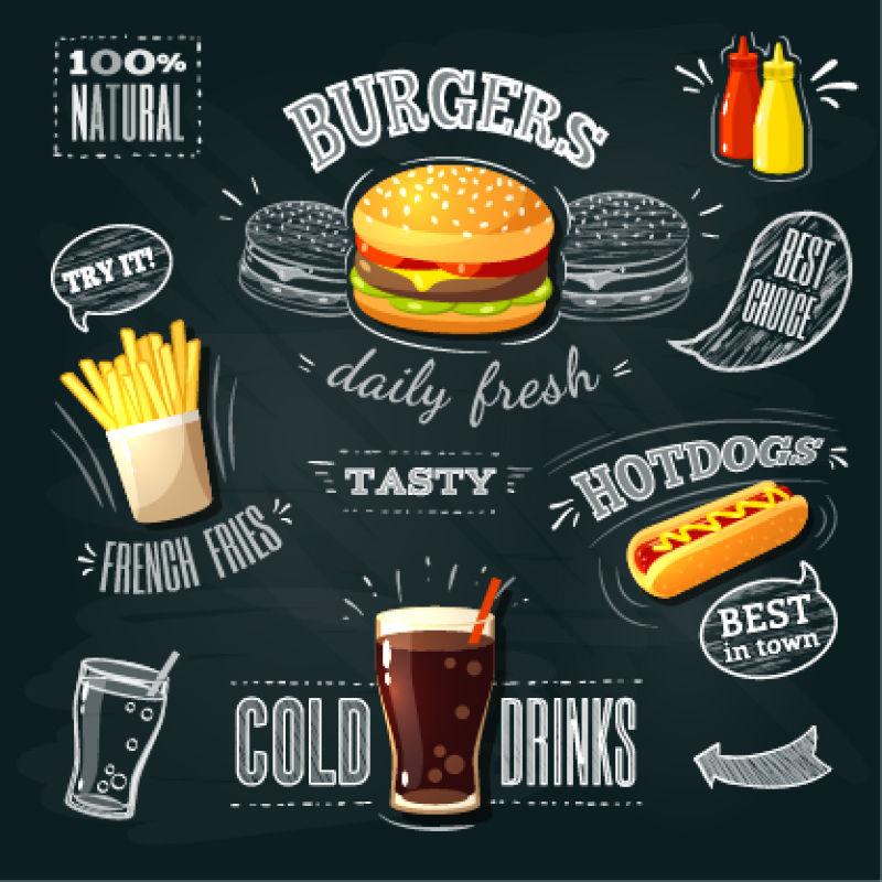 黑板快餐广告