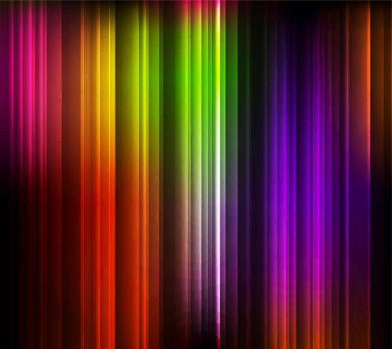 彩色的发光条纹图案背景矢量设计