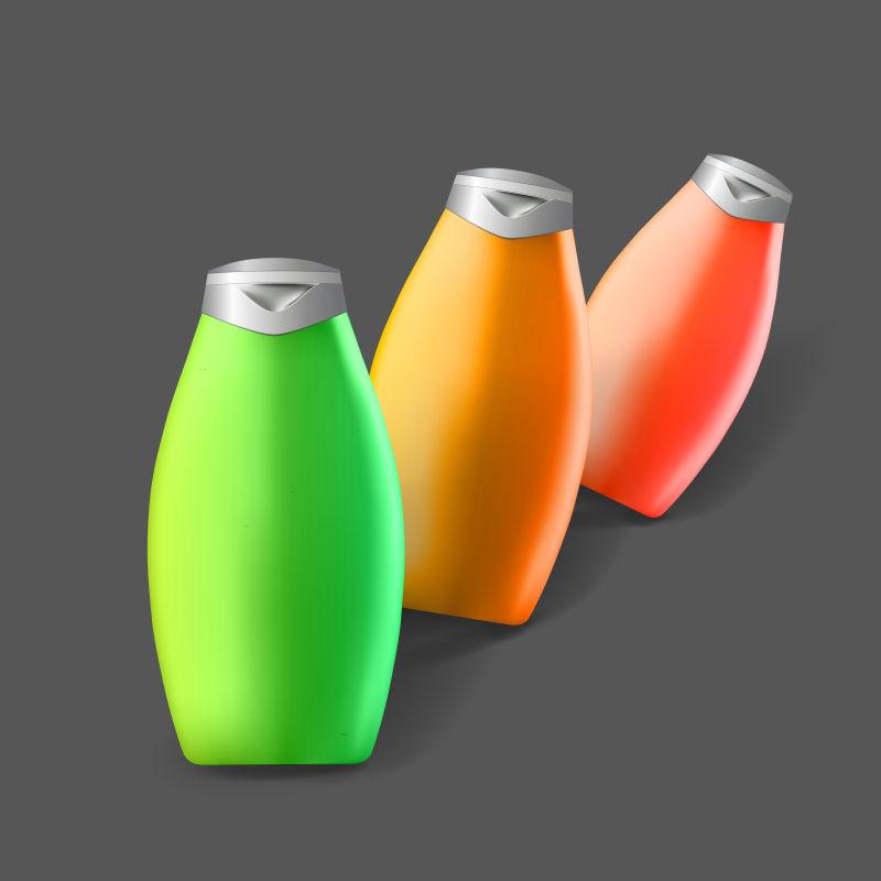 矢量彩色瓶子设计