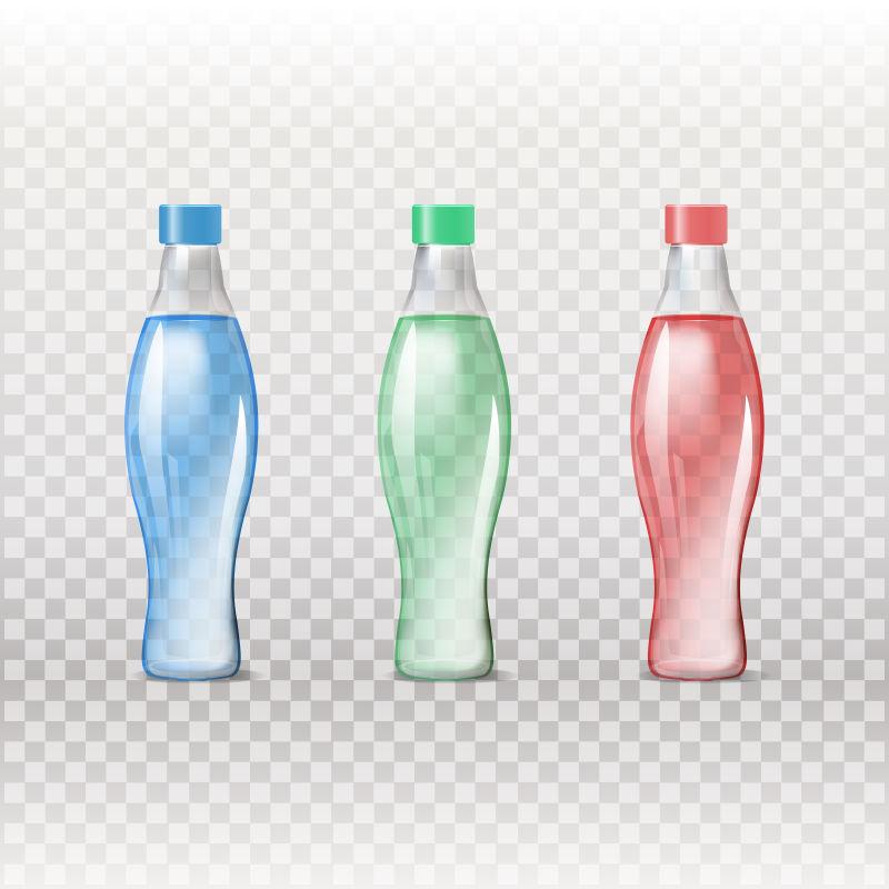 创意矢量彩色异型的玻璃瓶设计