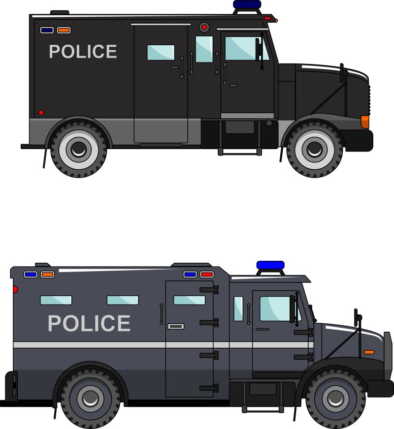 矢量两种警车设计