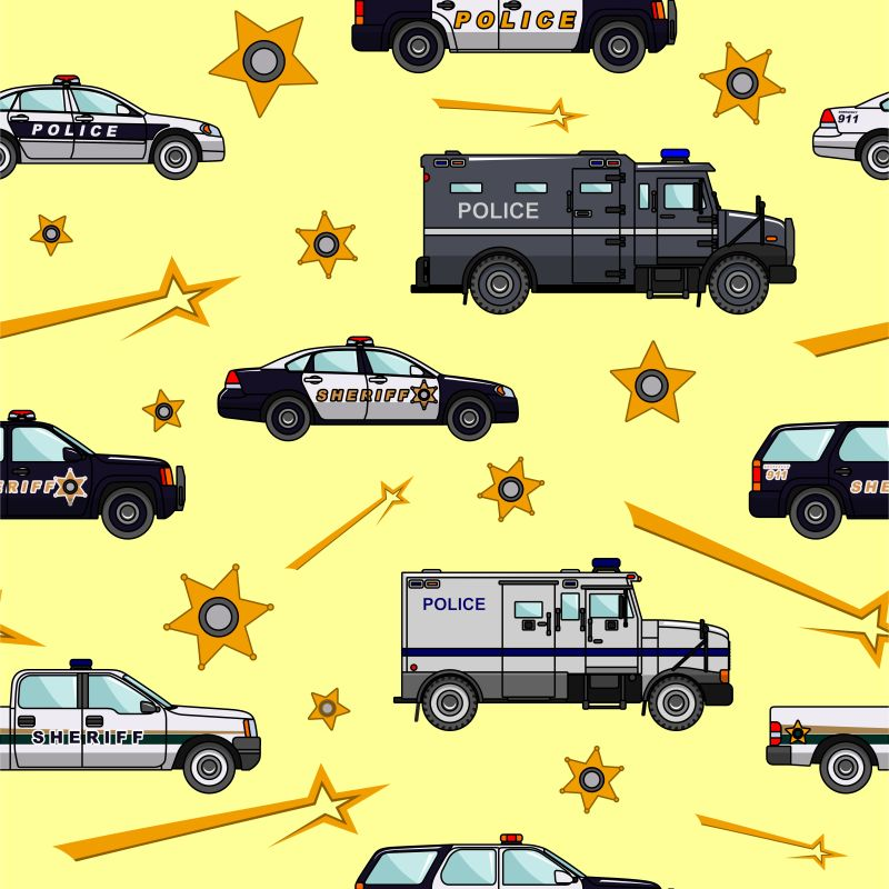 矢量警车图案背景