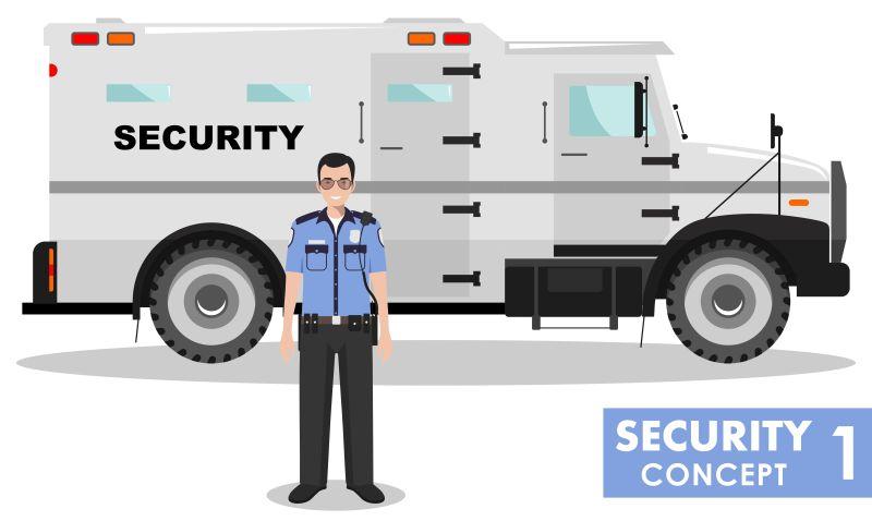 矢量安全车与保安